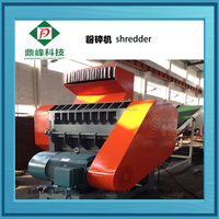 Tyre shredding machine for rubber chips and granules