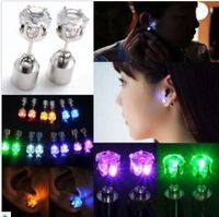 Led Light up Earrings Ear Studs Xmas Hallowmas Gift Party HOT