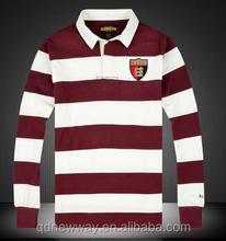 high quality men striped polo shirt