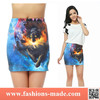 2015 3D Digital Printed short pencil skirt for sale
