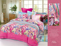 100% cotton 133x72 reactive printed pattern bed sheets and bed linens