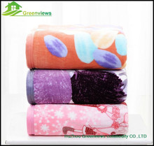 soft microfiber coral fleece blanket for wholesale,printing microfiber down throw/filling polyester microfiber blanket,GVHLY2186