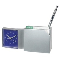 Dannol Promotional Quartz Plastic table alarm clock with pen holder