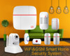 GSM WiFi Alarm System IOS Android Control, WiFi Network GSM GPRS SMS OLED Home Alarm System Security Kit RFID Keyboard