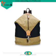New arrival leisure bag special design canvas backpack for young people