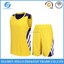 yellow white design quick dry basketball