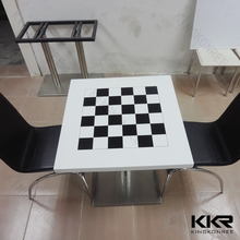 2015 new dining table white and black square/ custom dining table