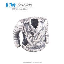 Jacket Silver Charm Men Jewelry For Men 925 Sterling Silver Charm Fits European Brand Bracelets Men Silver Charms YZ398