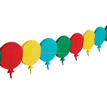 3m Colourful BALLOONS Children's Birthday Party Paper Garland Decoration