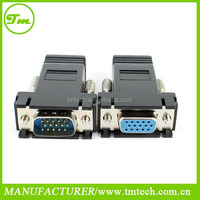 VGA SVGA to RJ45 Video Extender Adapter HD15 to CAT5e CAT6 100'