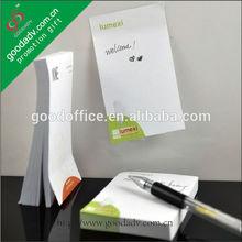 el diseño del oem de las necesidades de la oficina de negocios regalos del cubo de papel bloc de notas