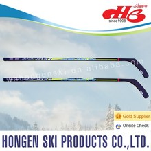 Composite ice hockey stick, roller hockey--laminated wood shaft, ABS blade
