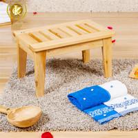 Square wooden foot stool made of cedar,portable bar stool