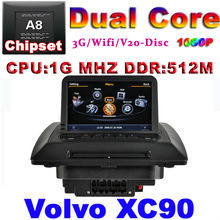 Car DVD for VOLVO XC90 with GPS radio USB 1G CPU WIFI 3G Host S100 Support DVR 7inch HD screen audio video player