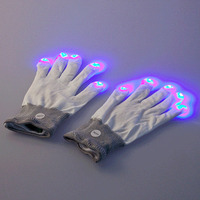 Led Toys 7 Mode LED Party Gloves Wholesale China Rave Light Gloves for Christmas Festivities Ceremony