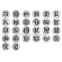 сургучом классические начальной воск печать штамп алфавит буква o ретро древесины МПБ