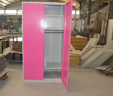 Beautiful removable wardrobe/pink , white changing room locker wardrobe/high gloss wadrobe