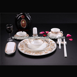 fancy quality royal porcelain dinnerware