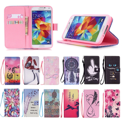 Factory Direct Hot Selling High Quality PU Leather Wallet Case for Samsung Galaxy S5
