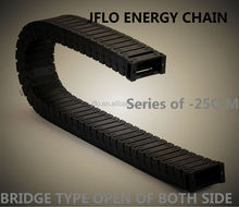 Silent type engineering plastic flexible cable drag chain(25mm)