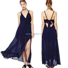 Spagehtti correa vestido de noche largo turquía vestido importados de china para mujeres