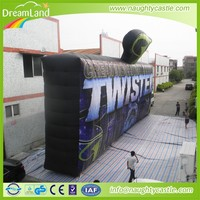 customized inflatable advertising logo wall/giant advertising board