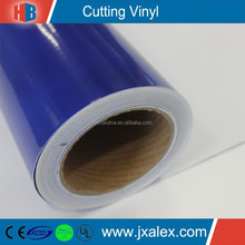 Wholesale 80 micron/120 gsm/Clear Permanent Glue/High Glossy Self Adhesive Coloured Film For Cutting Machine