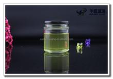 فارغة المربىالتسليم 150g عالية الجودة من الزجاج جرة مع غطاء معدني المسمار الأسود