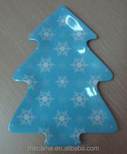 C2019 melamine christmas tree plate