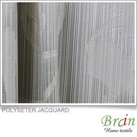 Modern polyester design fabric curtain for door, newest design curtain fabric, sheer fabric curtain