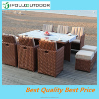 Rattan garden furniture tables chairs in dining chairs