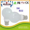 E27 B22 5W led lighting bulb RA80 CE RoHS approved 360 degree bulb lamp led b22