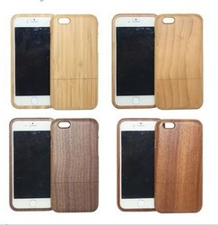 For iPhone Wood Case, Detachable Real Wooden Case Natural Wood Cover for iPhone 6 6 Plus 5 5s 4s