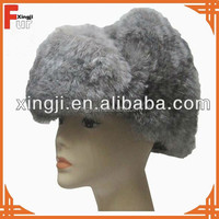 top quality animal hat chinchilla rabbit fur hat