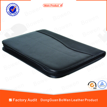 High quality geunine leather/PU leather gift portfolio wholesale