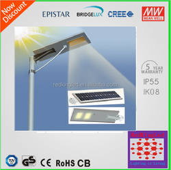 30w Energy-saving solar panels integrated led street lights with motion sensor