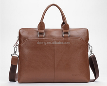 High quality custom real leather genuine cowhide leather business bag for men