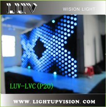 2012 hot sale new flexible led video curtain wall light