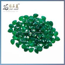 2014 Fashion Pear Cut Green Agate Wholesale Semi Precious Stone Price