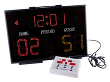 LEAP Basketball scoreboard display for game