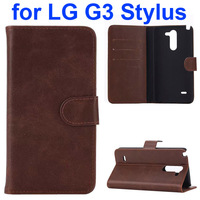 New Product Phone case Wallet Pattern Leather Case for Lg G3 Stylus Cover