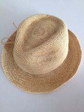 Madagascar straw Panama straw hat , raffia crochet cowboy hats