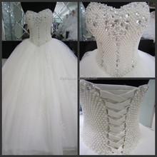 2015 Pattern Bridal Pearl Beaded Ball Gwon Marriage Online Shopping MM-1810 One Piece Designer Sweetheart Civil Wedding Dress