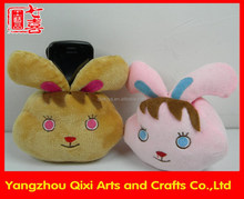 High quality rabbit plush toy promotion cell phone holder