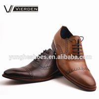 Coffee genuine leather upper italian goodyear-welted dress men shoes SP3022-02