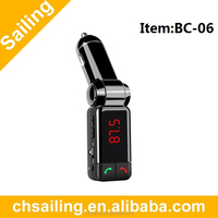 China Dual USB Port Car Charger Small Bluetooth FM Transmitter