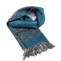 2015cheap new design lady novel pashmina jacquard hot stripe scarf