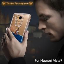 2015 New Arrival Swimming Moving 3D Liquid Phone Case for Huawei Mate7 in DUCK design