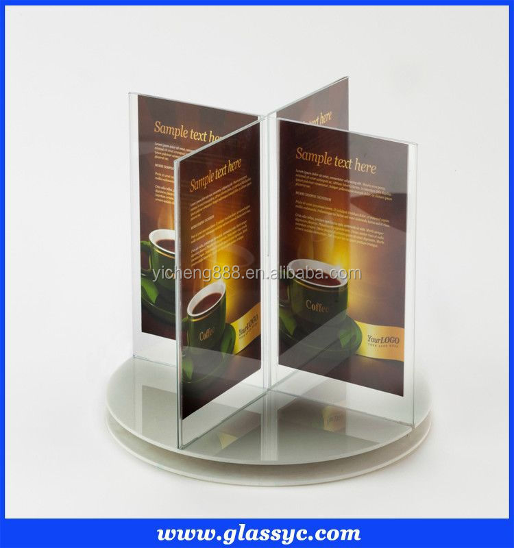 Best Selling Sided Plastic Sign Holder View Plastic Sign Holder - Restaurant table top sign holders