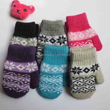 wholesale high quality colorful winter warm kids hats and gloves